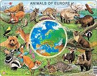 Puslespill - Dyrene i Europa