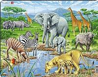 Puslespill - Den Afrikanske savannen m/dyr