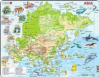 Puslespill - Asia, kart med dyr