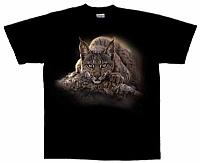 T-Skjorte Liggende gaupe str. XL