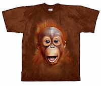 T-Skjorte Orangutangbarn str. barn 8 år  (128)