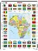 Puslespill - Afrikakart m/flagg
